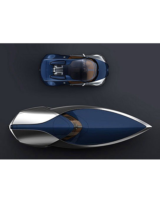 a concept speedboat inspired by 39 sang bleu 39 bugatti veyron mikeshouts. Black Bedroom Furniture Sets. Home Design Ideas