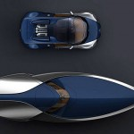 a concept speedboat inspired by 'Sang-Bleu' Bugatti Veyron