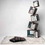Equilibrium Bookcase's radical design eliminates book ends
