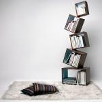 Equilibrium Bookcase's radical design eliminates book ends