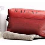 a cool washbag reclaimed from fire hoses, parachute silk