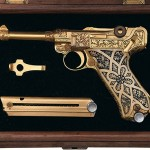 rare gold plated Luger pistol to go under the hammer