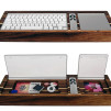 Hekseskudd Wooden Tray - Keyboard Tray with Remote 600x500px