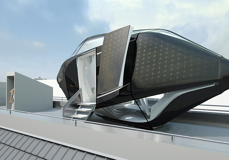 This capsule house concept is the future of mobile home for Futuristic home plans