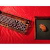 Old Time Computer's wireless keyboard and mouse with custom mouse pad 640x480px