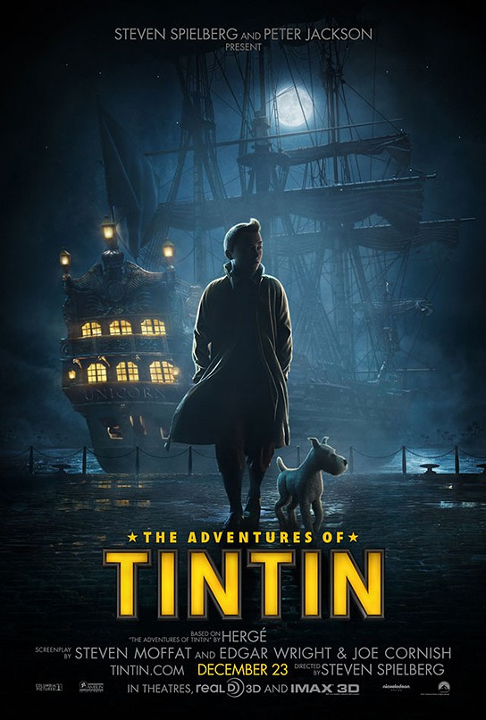 The Adventures of Tintin The Movie Poster (Domestic) 544x806px