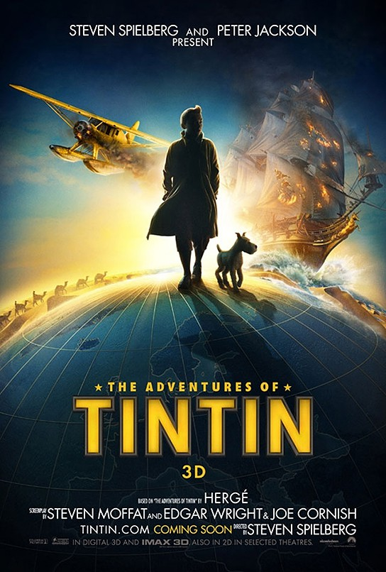 The Adventures of Tintin The Movie Poster (International) 544x806px
