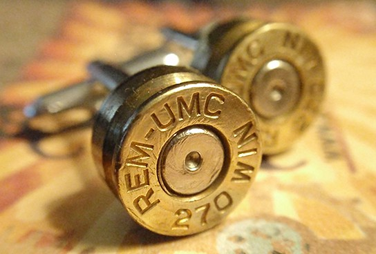 270 Premium Bullet Shell Cufflinks 544x368px
