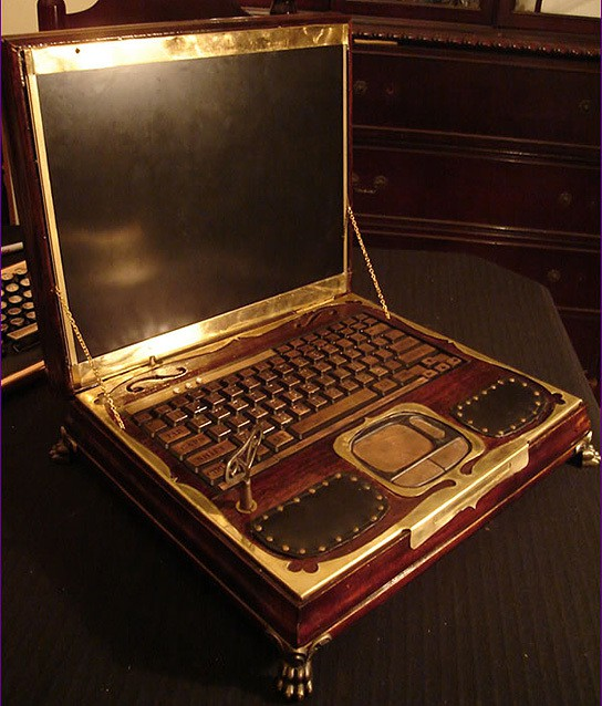 Datamancer Steampunk Laptop 544x638px