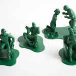 Casualties of War: toy soldiers depicting the flip side of wars