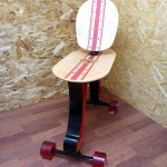 Isukebo: a perfect mashup of a skateboard and a chair