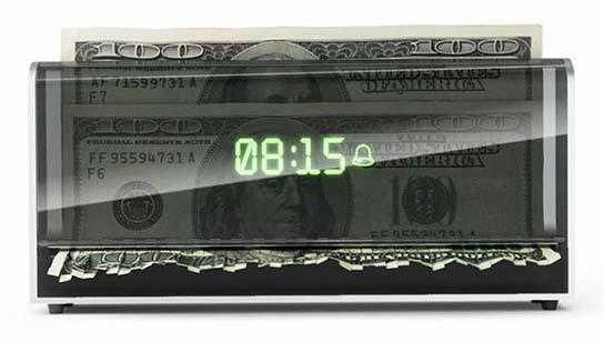 Money Shredding Alarm Clock 544x308px