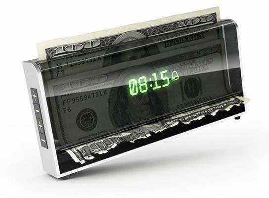 Money Shredding Alarm Clock 544x400px