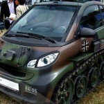 Smart Fortwo converted into a tank complete with camouflage