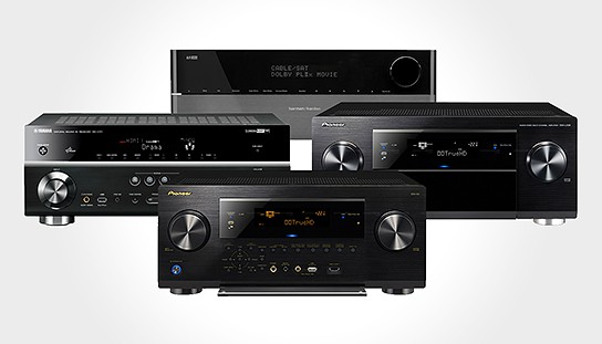 four new AV receivers 2011 544x311px