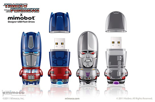 the Transformers x MIMOBOT USB Flash Drives 544x360px