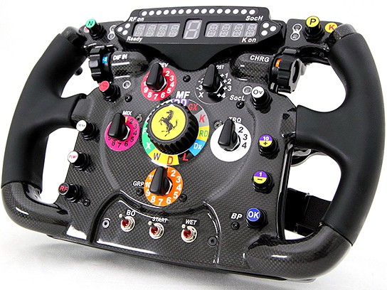 2011 Ferrari 150° Italia Steering Wheel Replica 544x408px