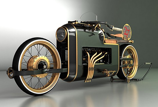Mikhail Smolyanovs Arx 4 Steampunk Motorcycle on Art Recycled Car Parts Furniture
