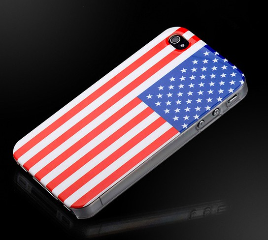 American Flag hard case for iPhone 4 544x488px