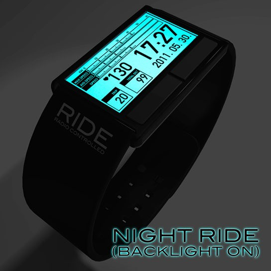 Bicycle Computer Concept Wristwatch with Backlight 544x544px