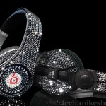 Crystal Rocked blinged-out Beats and Sennheiser headphones