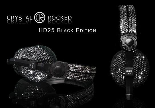 Crystal Rocked Sennheiser HD25-1 II Headphones Black Edition 544x378px
