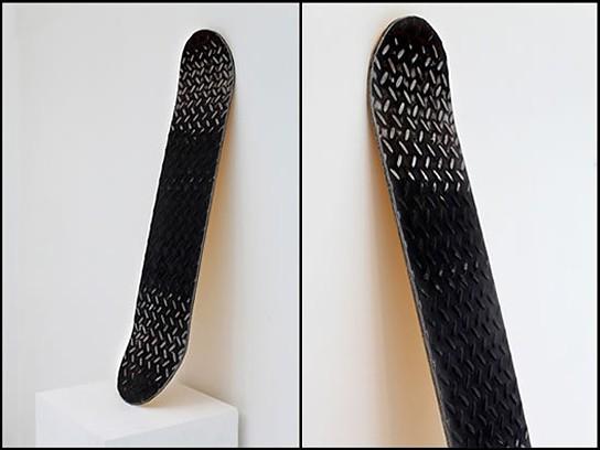 Miya Ando Steel Skateboard with 24k gold leaf 544x408px