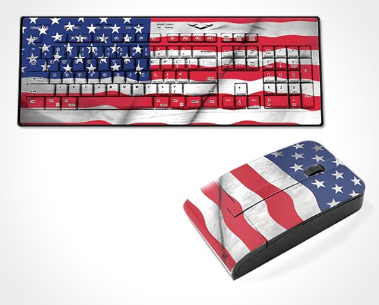 Old Glory USA Flag Kyeyboard and Mouse 544x438px