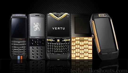 round up of five luxury mobile phones 544x311px