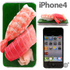 iMeshi Japanese Sushi iPhone 4 cover - Toro and Ebi 500x500px