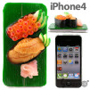 iMeshi Japanese Sushi iPhone 4 cover - Uni and Ikukra 500x500px