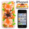 iMeshi Japanese Sushi iPhone 4 cover - Chirashi Sushi and Ebi Shrimp 500x500px