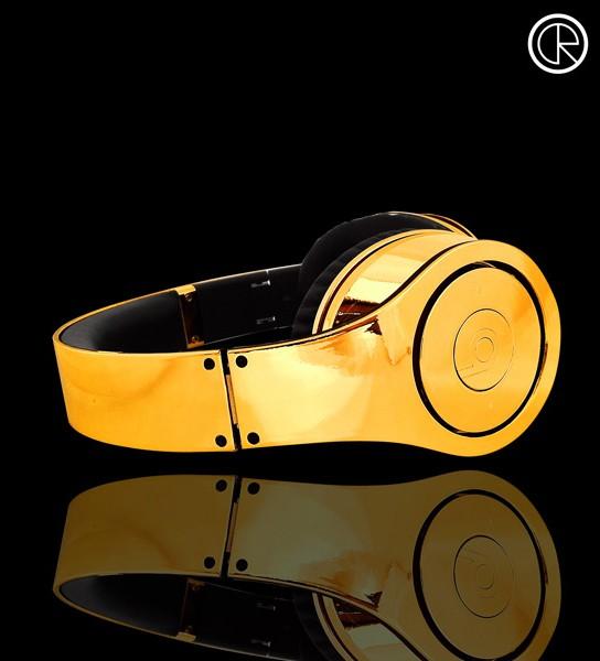 24-ct Gold Plated Dr Dre Beats Studio Headphones 544x600px