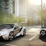BMW i3 electric hatchback and i8 hybrid coupe