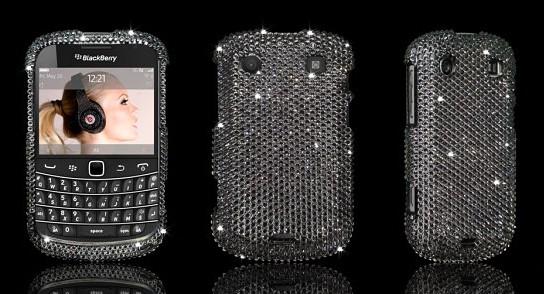 BlackBerry Bold 9900 Swarovski case - Jet Hematite 544x294px