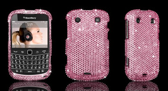 BlackBerry Bold 9900 Swarovski case - Rose 544x294px