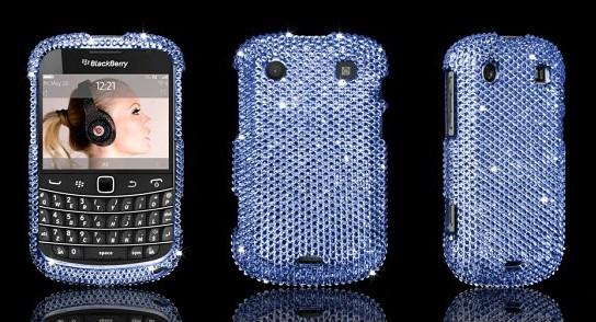 BlackBerry Bold 9900 Swarovski case - Sapphire 544x294px