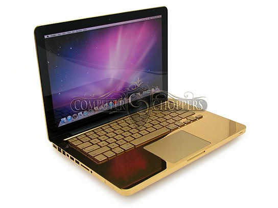 Computer Choppers polished 24k Gold 13-inch Macbook Pro 544x408px