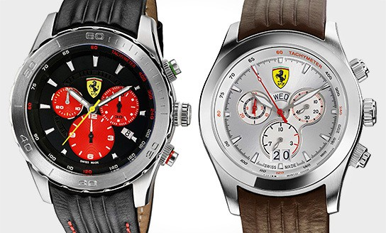 Ferrari Paddock Chronograph - Silver and Sport Classic 544x328px