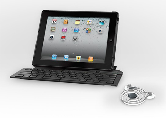 Logitech Fold-up Keyboard and Joystick for iPad 544x388px
