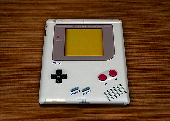 Lootiful Game Boy-style iPad 2 case 544x388px