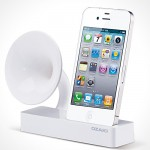 OZAKI iSuppli Gramo iPhone Speaker – power free, gramo-style