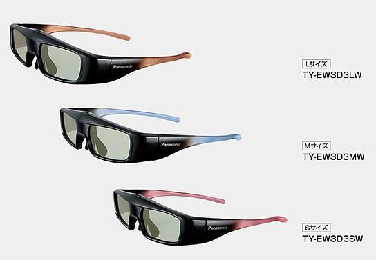 Panasonic 3D Glasses TY-EW3D 544x377px