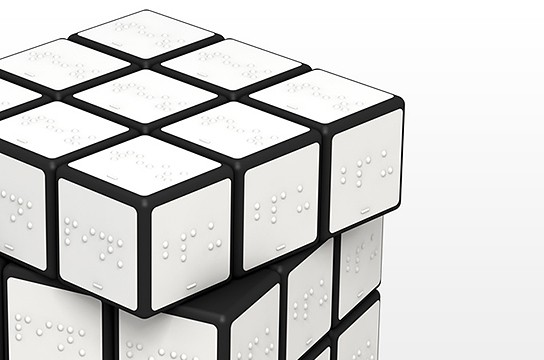 Rubik's Cube for Blind Persons 544x360px