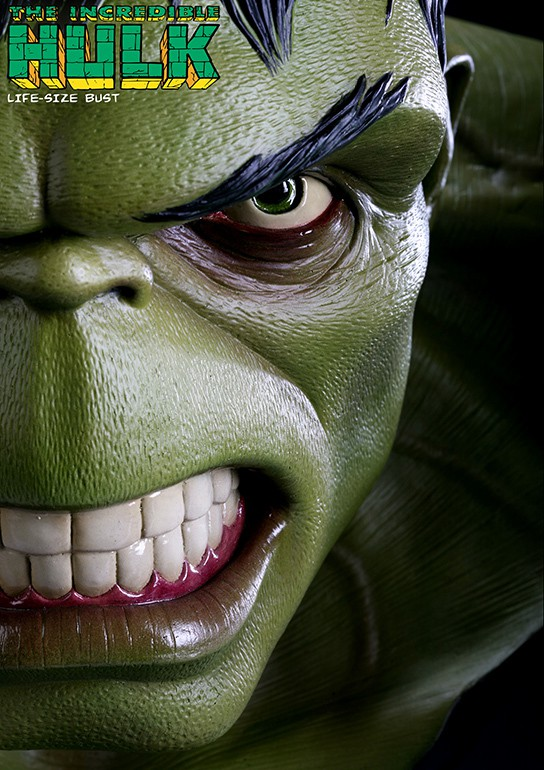 Sideshow Collectibles Hulk Life-size Bust 544x770px