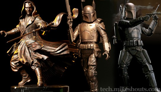Sideshow Collectibles Limited Edition Star Wars Bronze Statues 544x311px