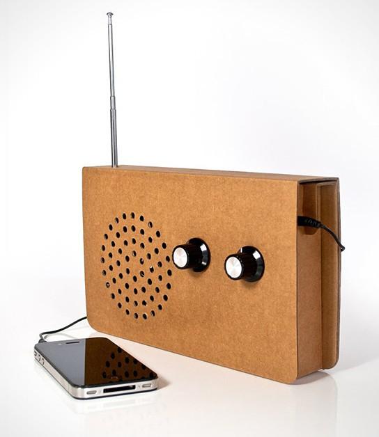 Suck UK Cardboard Radio 544x628px