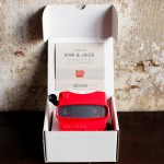 custom Viewmaster wedding invites cost $2,800
