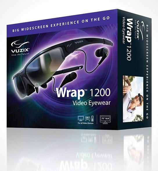 Vuzix Wrap 1200 3D Video Eyewear 544x588px