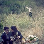 engagement photo shoot wrecked by zombie [photos]